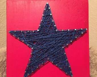 MADE TO ORDER - Star String Art Sign