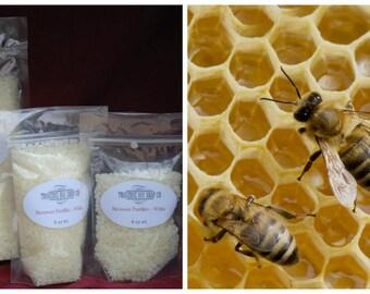 Organic Beeswax Pastilles - White, 16 oz ,lip balm,salve, supplies, beeswax pellets