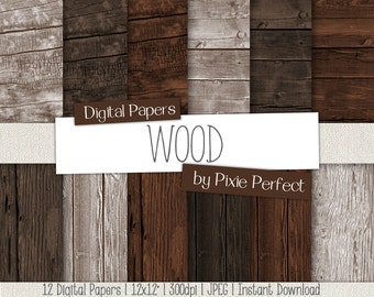 Wood Digital Paper Wood Backgrounds, WOOD Digital Wood Paper Backgrounds Instant Download Commercial Use Wood Textures (76)