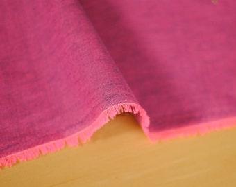 Japanese Fabric Neon Chambrey Pink
