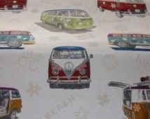 VW Campervans fabric, heavyweight fabric