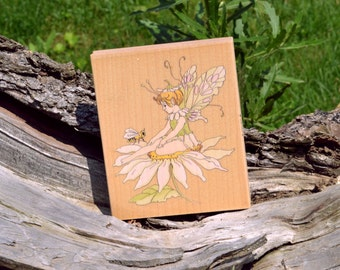 80089 FAIRY ON DAISY, Stamps Happen, Inc.