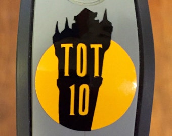 runDisney Tower of Terror 10 Miler Magic Band Vinyl Decal