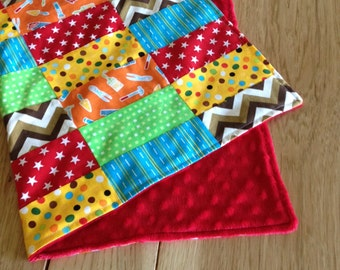 Security Baby Blanket, Baby Quilt, Minky Blanket, Lovey