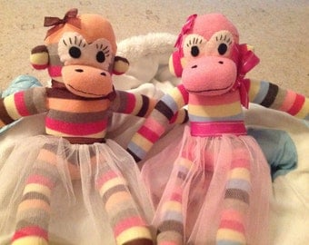 Beautiful handmade sock monkeys
