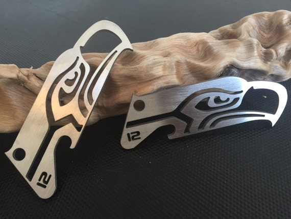 new titanium seahawks key chain bottle opener limited run. Black Bedroom Furniture Sets. Home Design Ideas
