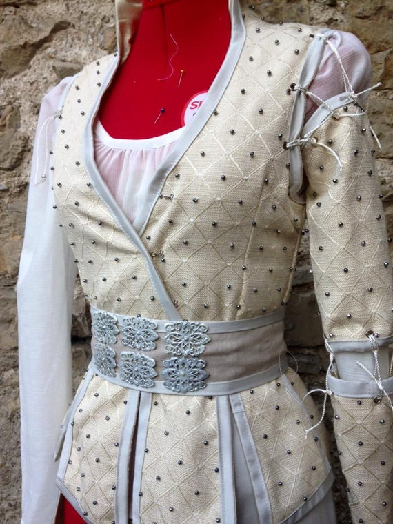 Items similar to snow white once upon a time costume on etsy for Snow white wedding dress once upon a time