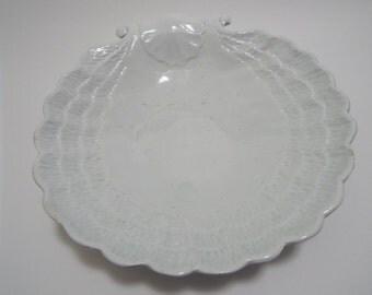 Vintage shabby seashell dish, vintage shell dish