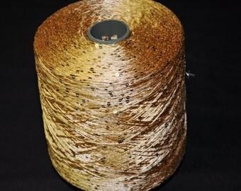 1 spool 1 kg sequin yarn  Nm 5,2 gold 5.200 m/kg