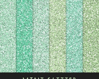 60% OFF Mint Glitter Paper / BMint Green Glitter / Scrapbooking Digital Paper / Digital Glitter Background / Glitter Overlay / Instant Downl