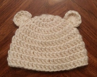 Custom Crochet Baby-Child Teddy Bear Hat