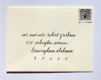 Wedding Calligraphy Envelope Addressing - Stono Style