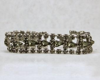 Vintage Silver Rhinestone Bracelet #45