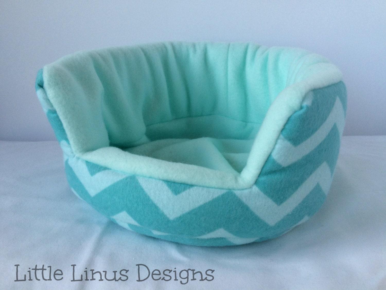 Cozy Cuddle Cup Bed Turquoise Blue Chevron Fleece
