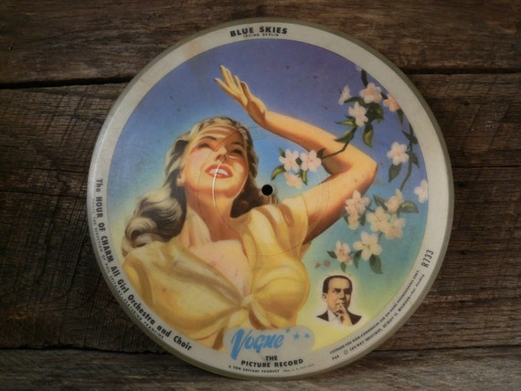 Vogue Picture Record 1940s 78 Rpm Picture Disc
