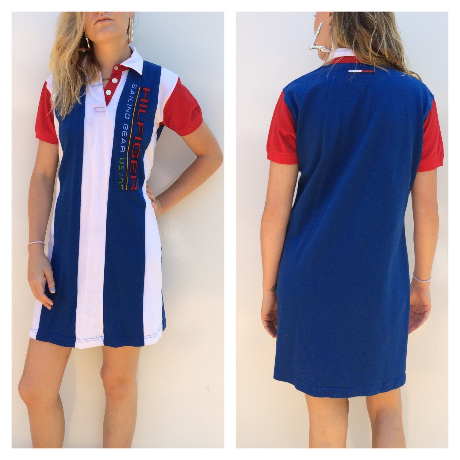 90s tommy hilfiger polo dress. Black Bedroom Furniture Sets. Home Design Ideas
