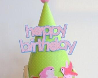 Birthday party hat, bird hat, birthday hat