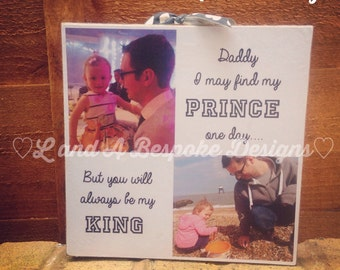 Photo block, fathers day, birthday, gift