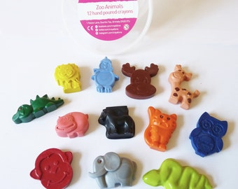 Zoo animal crayon bucket