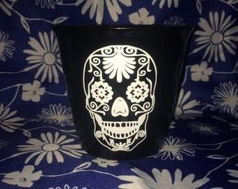 Sugar Skull Flower Pot, sugar skull, gift for her, Gift for him