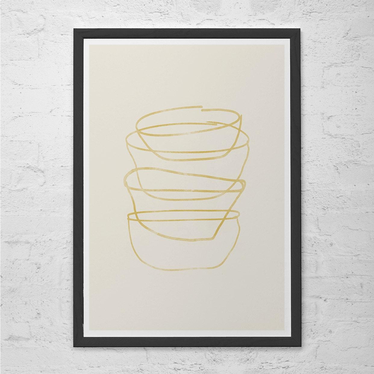 MINIMALIST MID CENTURY Kitchen Print Giclee Print Ikea Ribba