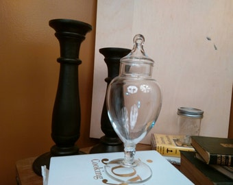 Vintage Clear Glass Apothecary Jar