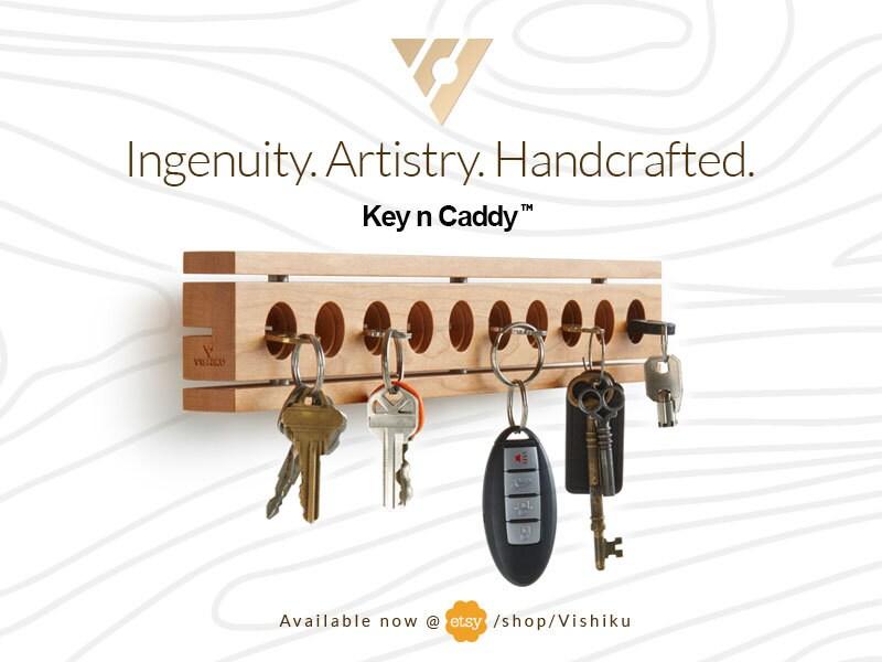 Key Holder For The Wall Key Holder Wood Key Holder Wallmounted Key Holder Key