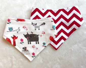 XXS-S Woodland Friends Bandana Bib