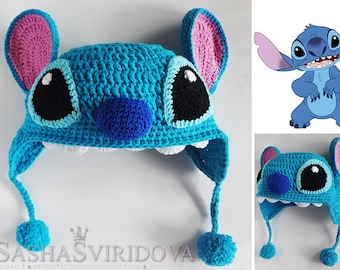 crochet baby hat Lilo & Stitch