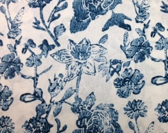Windham MEADOWLARK (CADET BLUE) 100% Cotton Fabric for Quilting - sold by 1/2 yard