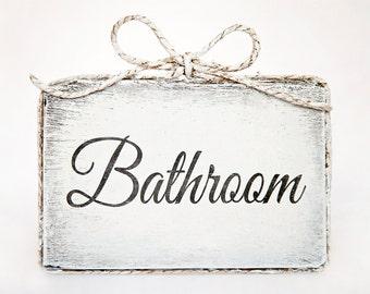 Cute handmade wooden bathroom door sign - Bathroom / Home Decor / Door Decor / Bathroom Decor