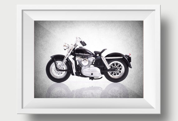 Harley Davidson 1952 B W Photo Printdecor Ideaswall By
