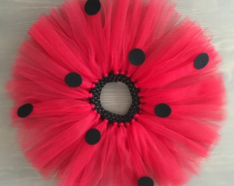 Ladybug Tutu, Red Skirt, Toddler tutu, Birthday tutu, Baby tutu, Gift for girls, Ladybug skirt