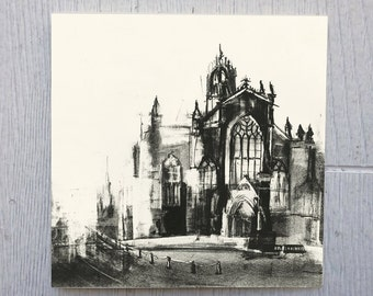 St Gile's Cathedral in Edinburgh Greeting Card