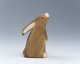 Rabbit Toys - Rabbit Figurine - Bunny Statue - Wood Rabbit - Bunny Toys - Rabbit Pet - Baby Wooden Toys - Wooden Animal Toys - Gift For Baby