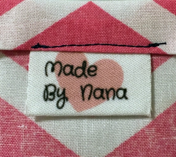 30 Personalized Fabric Clothing Labels Iron On Sew On Labels