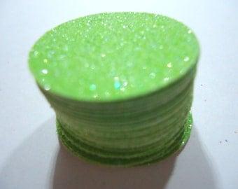 30 glitter green die cuts circle one inch die cuts rinchies inchies scrapbook supply