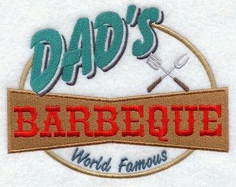 BBQ Apron Dads Barbecue Summer World Famous Barbecue Fathers Day Gift
