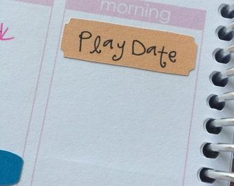 Play Date Planner Stickers for Erin Condren Life Planner (ECLP)