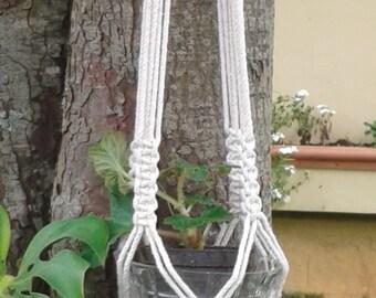 """Natural  Macrame Plant Hanger 50"""" / plant holder / pot holder / hanging planter , indoor , outdoor / bird feeder"""