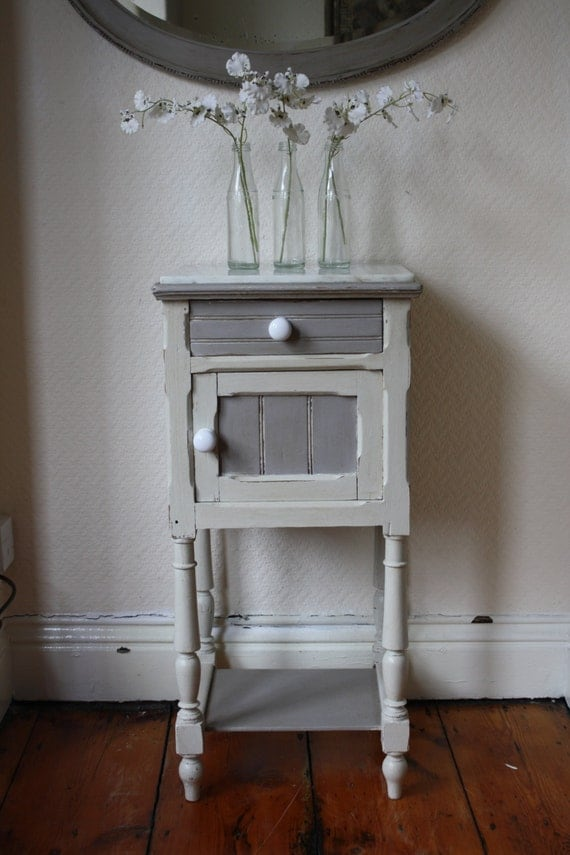 Hand Painted Victorian Pine Washstand With Marble Top