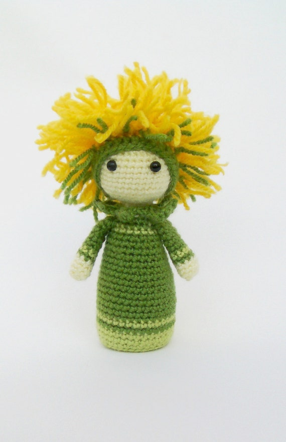 Original Crochet Amigurumi Flowers : Crochet Pattern Amigurumi Doll Flower Doll Dandelion Di by ...
