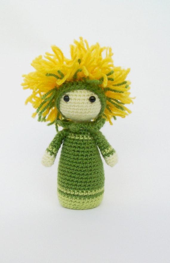 Amigurumi Flower Crochet Pattern : Crochet Pattern Amigurumi Doll Flower Doll Dandelion Di by ...