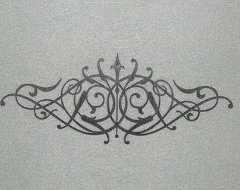 "Large 24"" Wood Ornamental Crown Scroll Wall Decor Art"