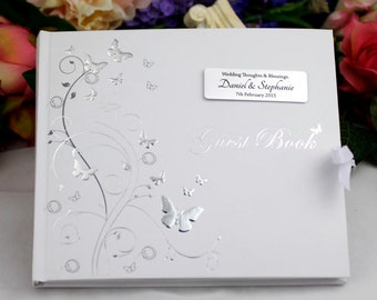 Personalised Butterfly Guest Book - Wedding/Engagement