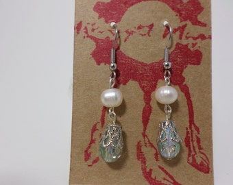 Freshwater Pearl Victorian Earrings