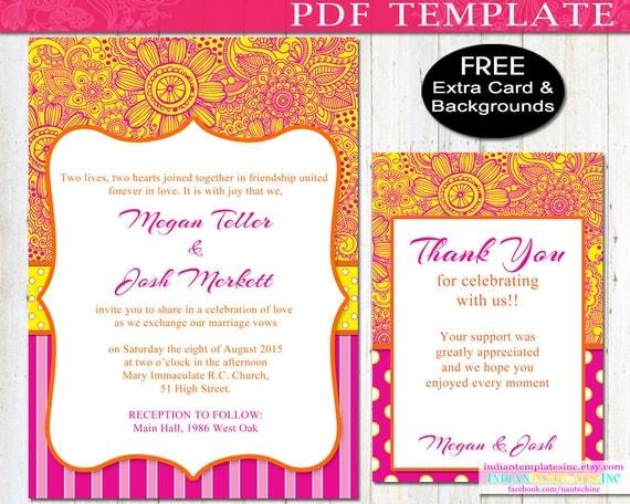 Diy Bollywood Party Invitation Bright Fuschia By Belleculture