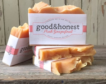 Pink Grapefruit Soap, Citrus Soap, good&honest Pink Grapefruit all natural shea butter soap