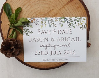Woodland Walk Wedding Save The Date A6