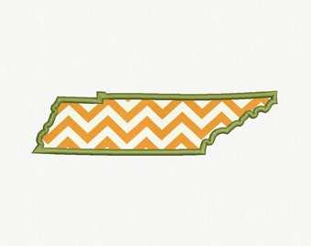 State of Tennessee Applique Machine Embroidery Design - 5 Sizes